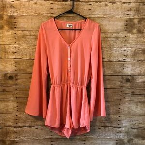 Show me your MuMu Red Rocks romper in coral small